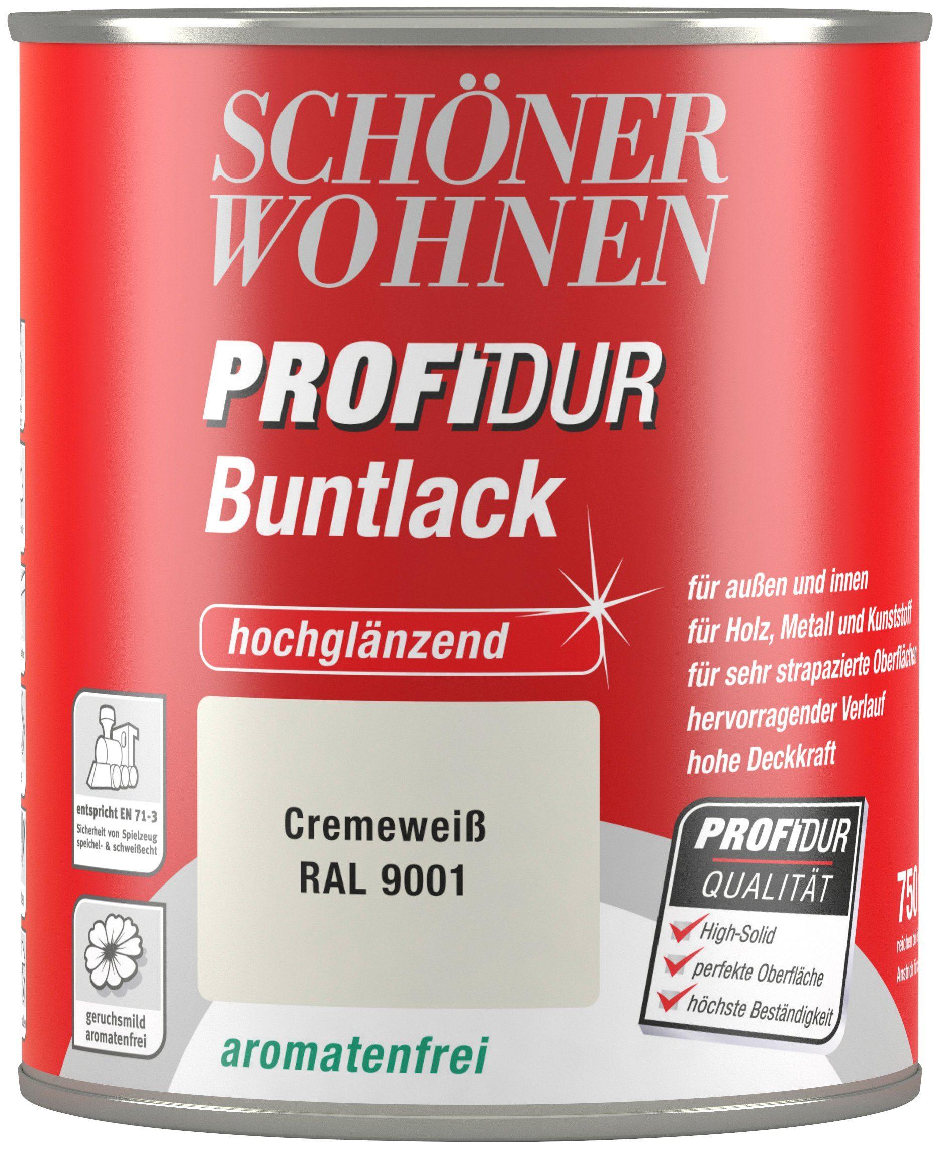 Schöner Wohnen Farbe Buntlack »ProfiDur hochglänzend, 750 ml cremeweiß«