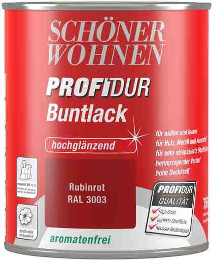Schöner Wohnen Farbe Buntlack »ProfiDur hochglänzend, 750 ml rubinrot«