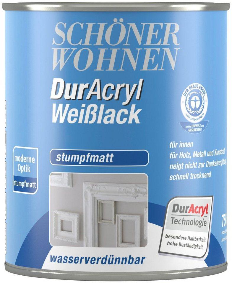 SCHÖNER WOHNEN FARBE Weißlack »Duracryl Weilack Stumpfmatt