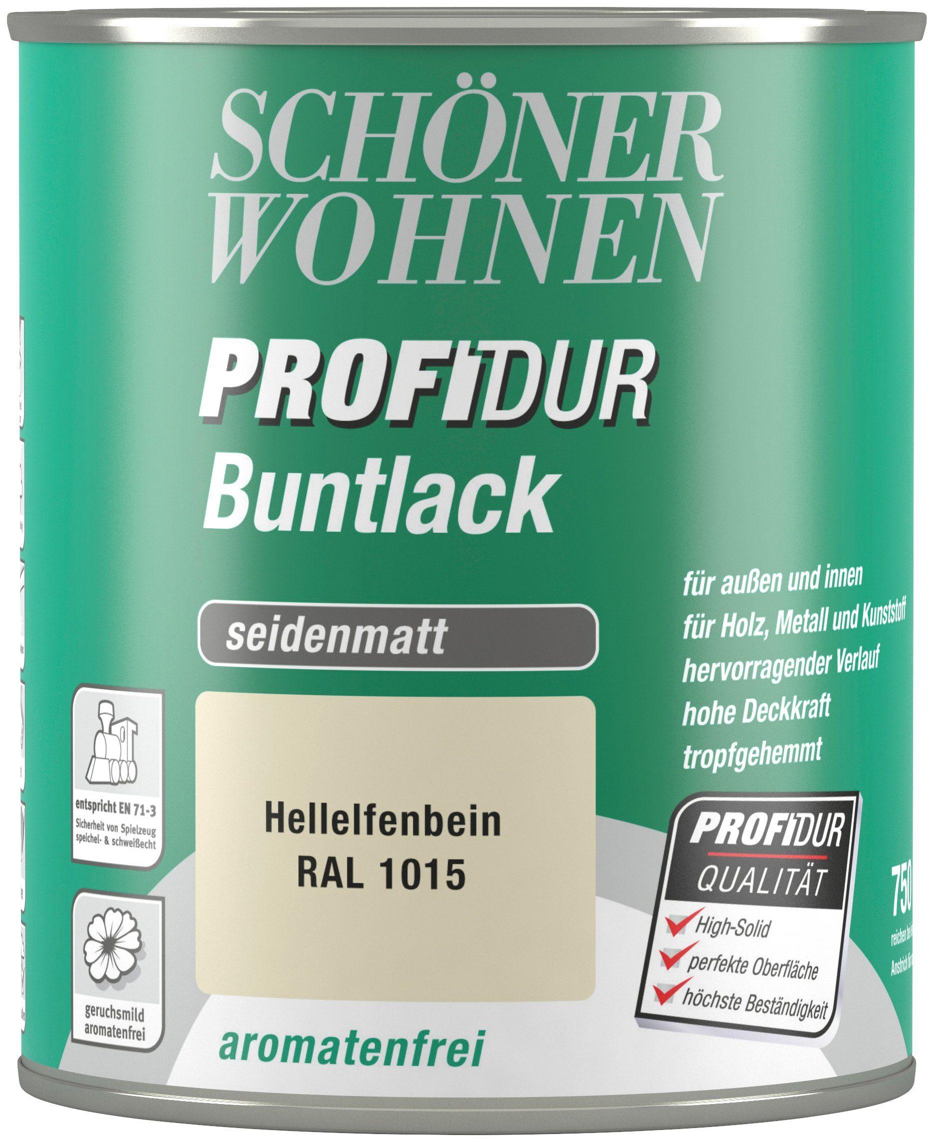 Schöner Wohnen Farbe Buntlack »ProfiDur seidenmatt, 750 ml hellelfenbein«