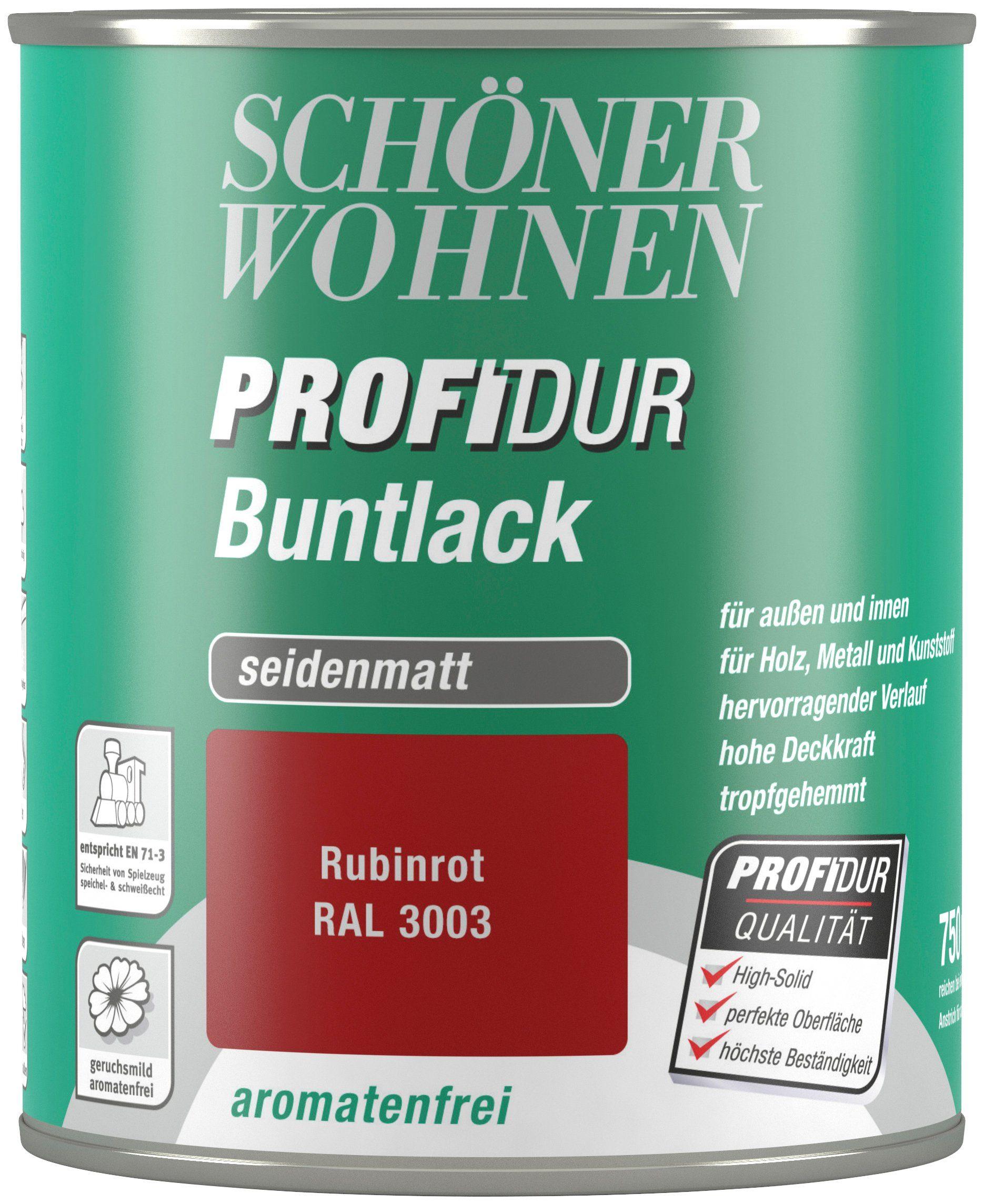Schöner Wohnen Farbe Buntlack »ProfiDur seidenmatt, 750 ml rubinrot«