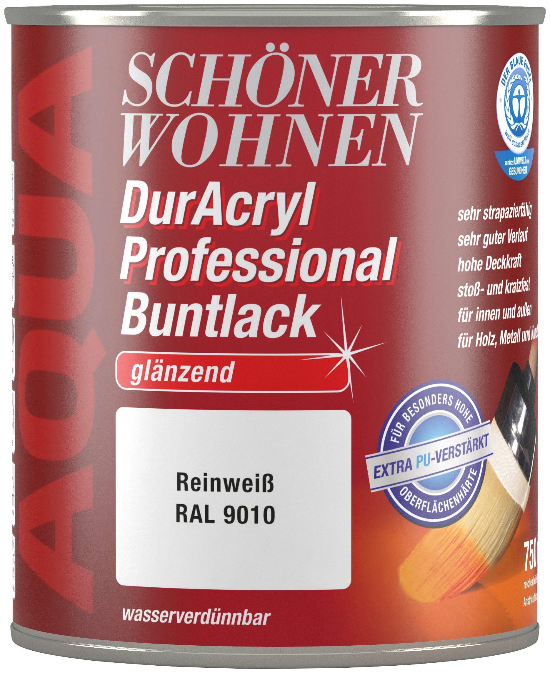 Schöner Wohnen Farbe Buntlack »DurAcryl Professional glänzend, 750 ml reinweiß«