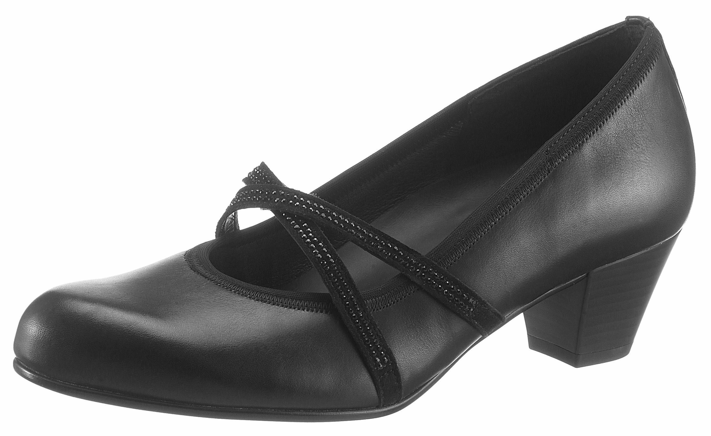 Gabor Pumps, mit funkelnden Strasssteinen, in bequemer Schuhweite G (weit) online kaufen  schwarz