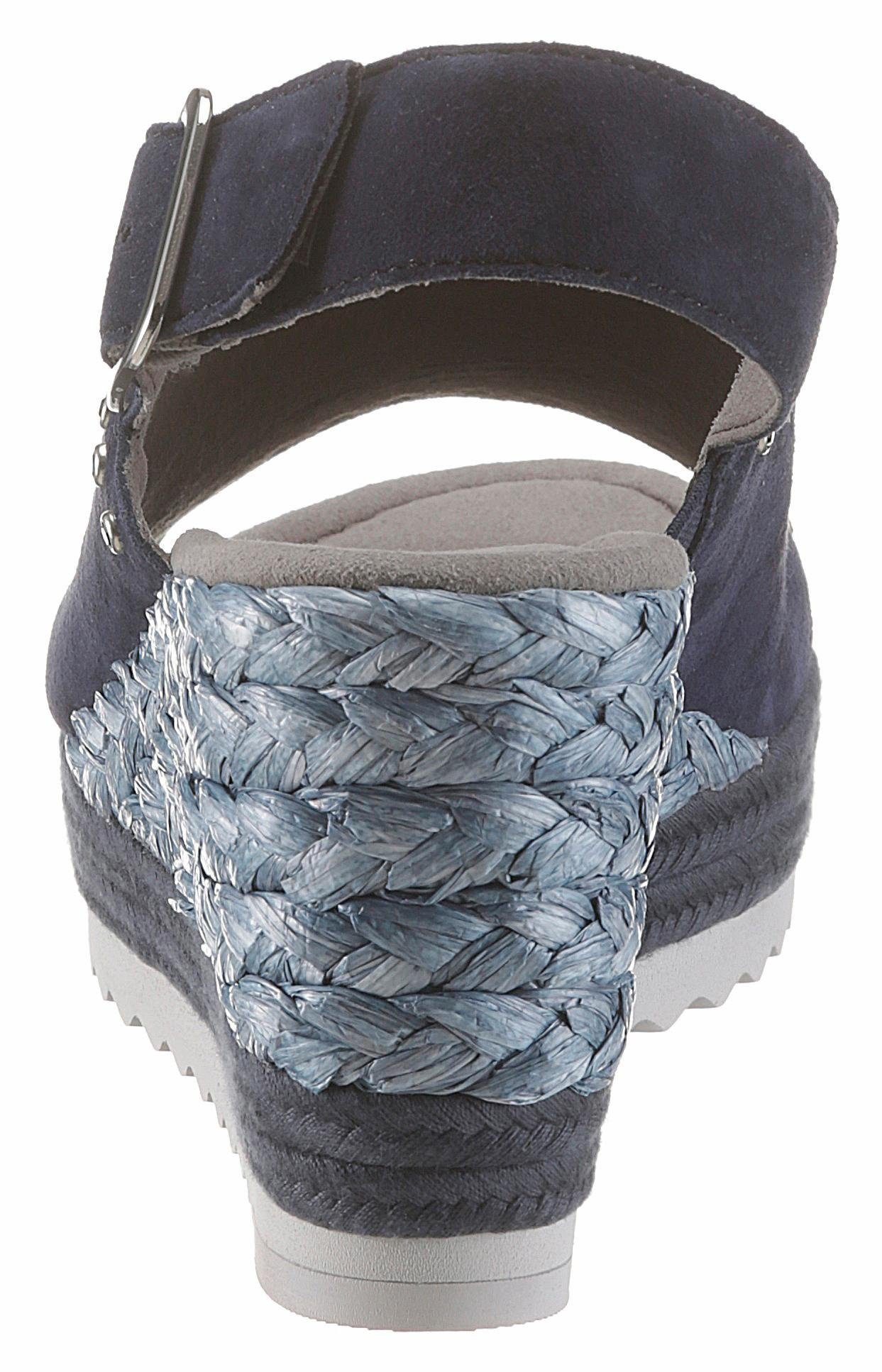 Gabor Sandalette, mit funkelnden Strasssteinen  blau