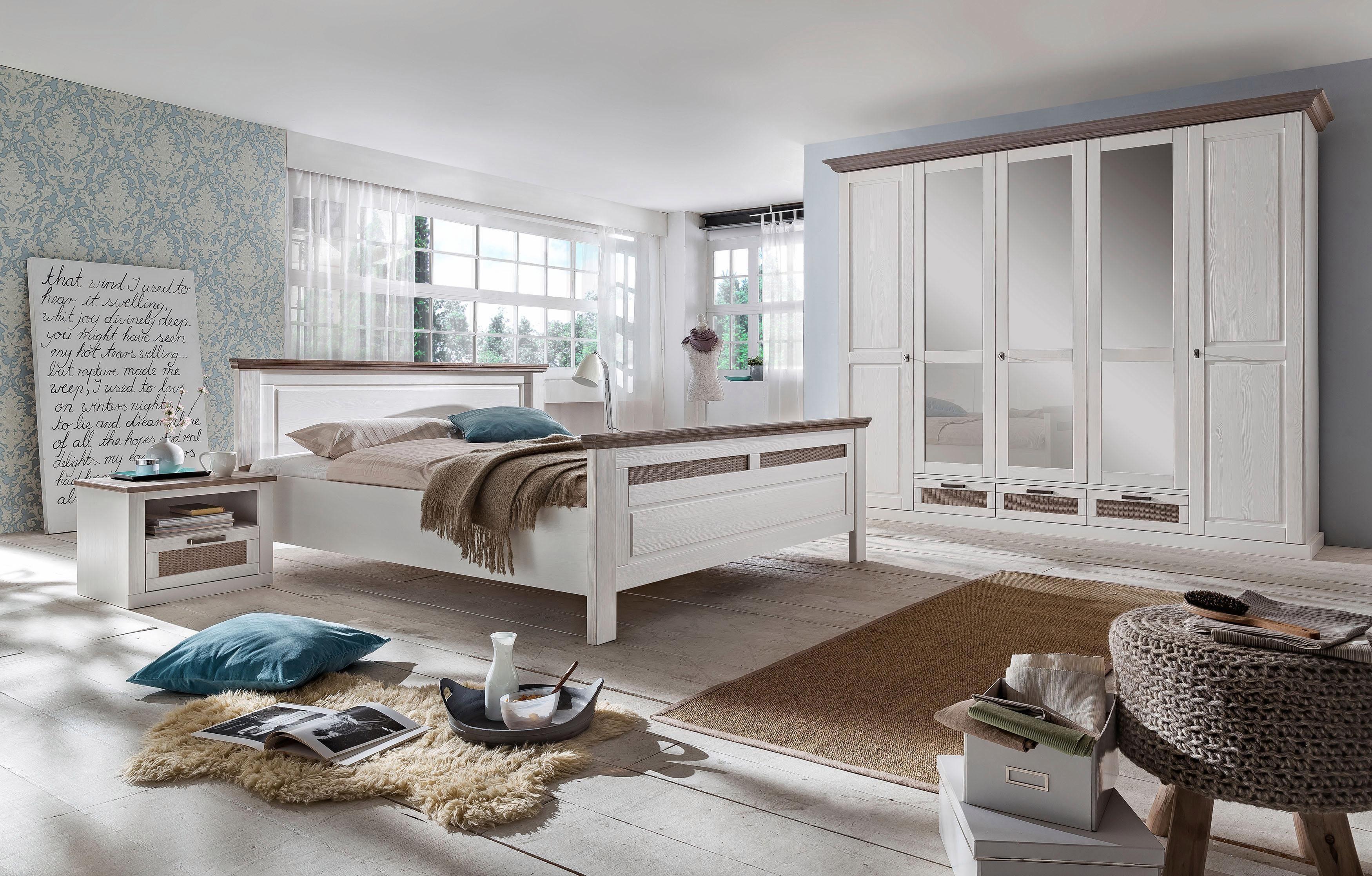 Home affaire 4-teiliges Schlafzimmer-Set »Lugano«, 5-trg Schrank, Bett 180/200 cm, 2 Nachttische
