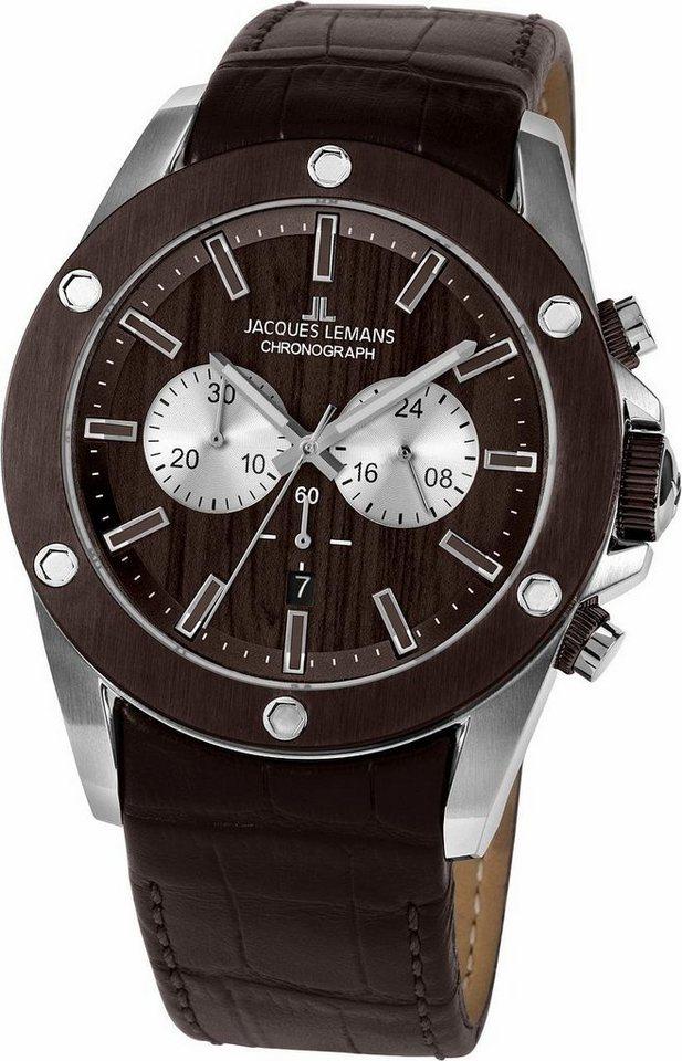 Jacques Lemans Sports Chronograph »1-1812A« | Uhren > Chronographen | Braun | Jacques Lemans Sports