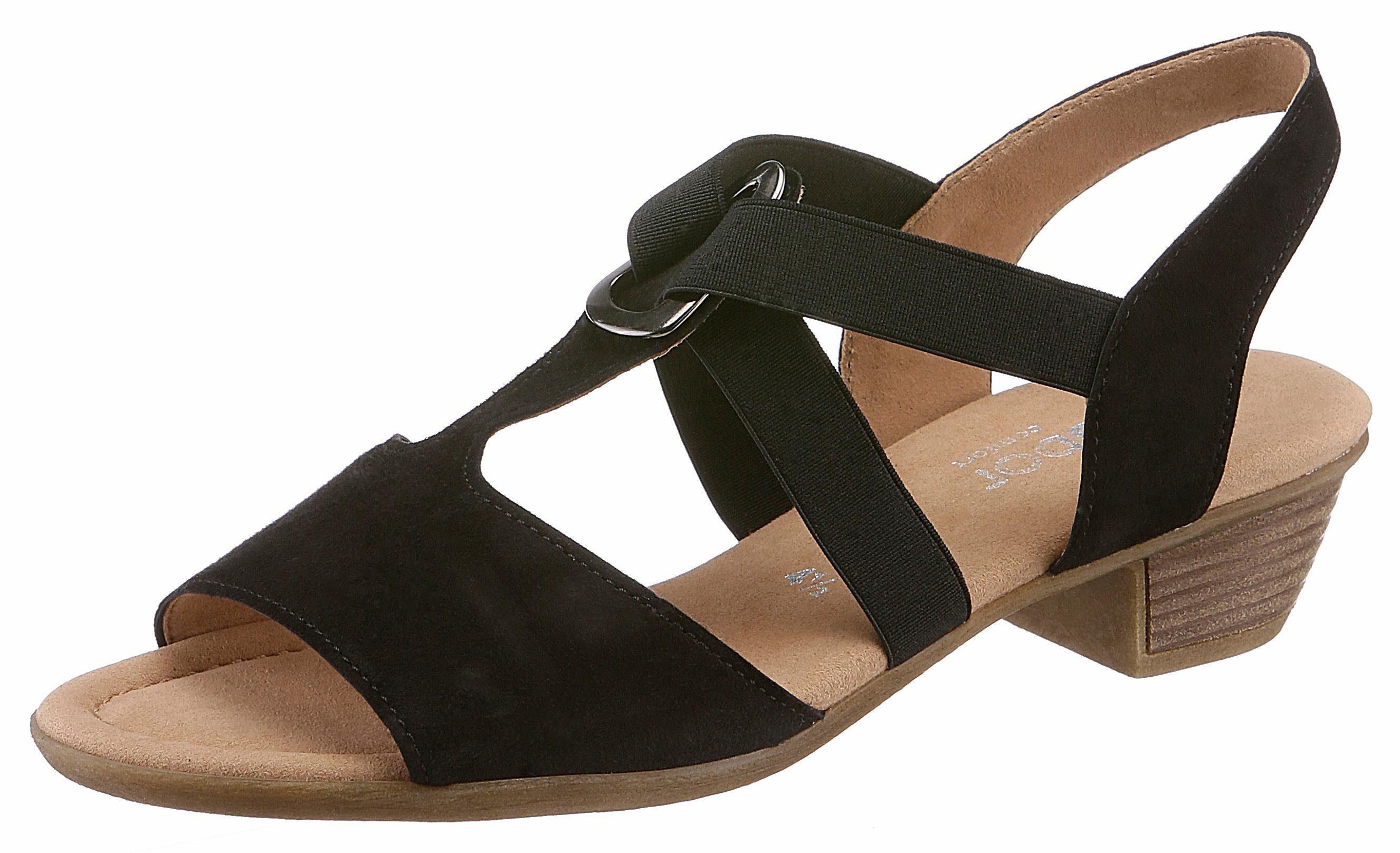 Gabor Sandalette, mit schönem Schmuckelement  schwarz