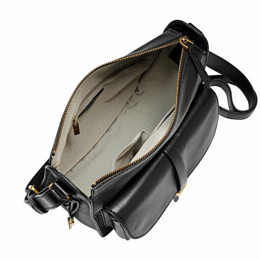 Fossil Schultertasche Ryder Shoulder Bag, Front Pocket Of Leather With Practical