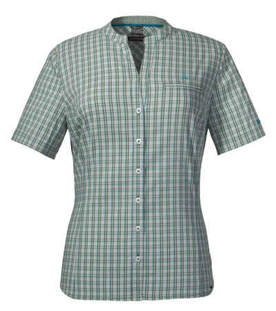 Schoeffel Karobluse »Schöffel Mumbai1 Wander-Bluse feminine Damen Sommer-Bluse mit Lichtschutzfaktor Karo-Bluse Grün«