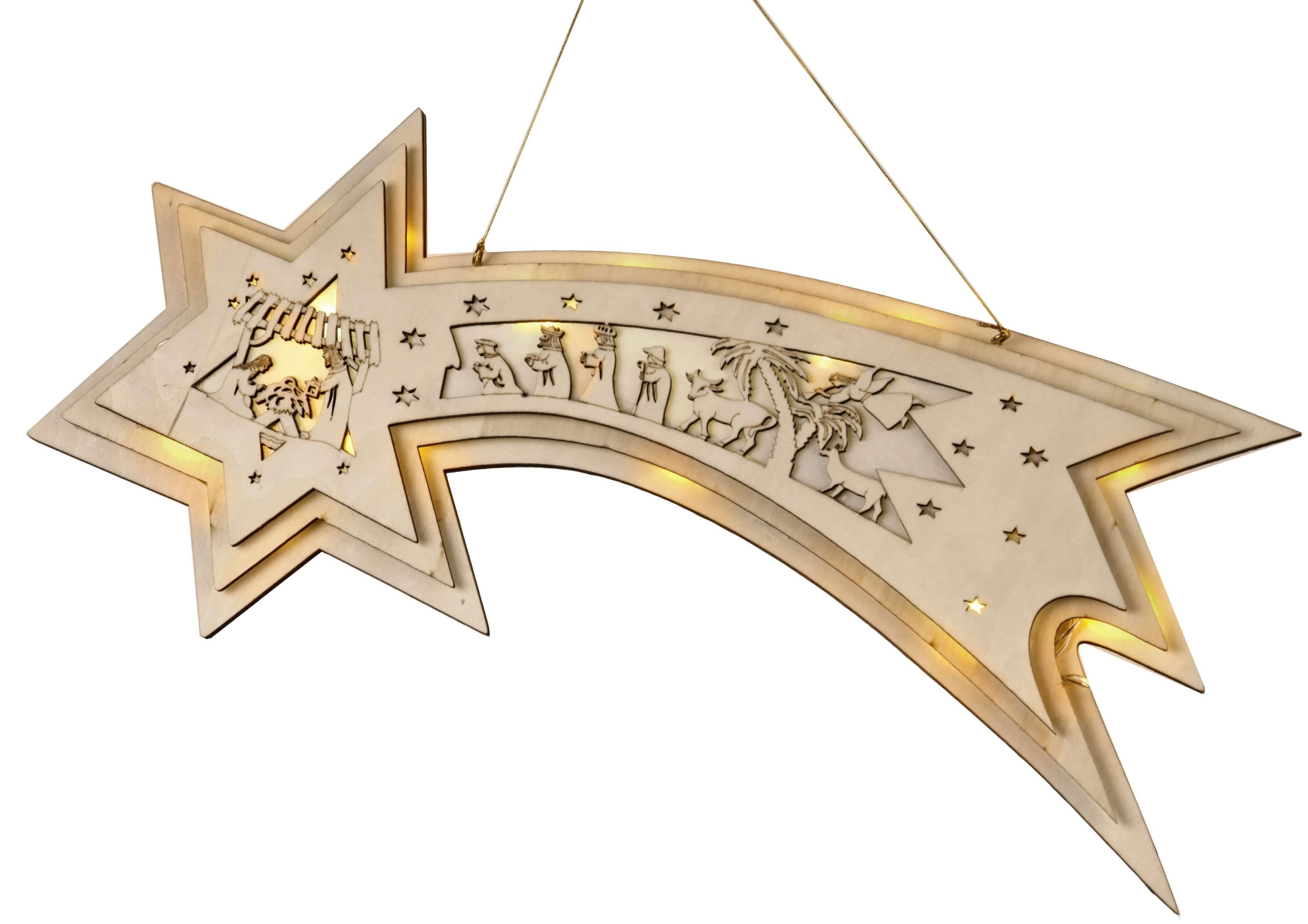 Star LED-Fensterhänger Komet »Halley«