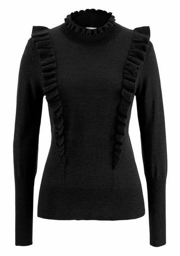 CLAIRE WOMAN Wollpullover, mit Volant