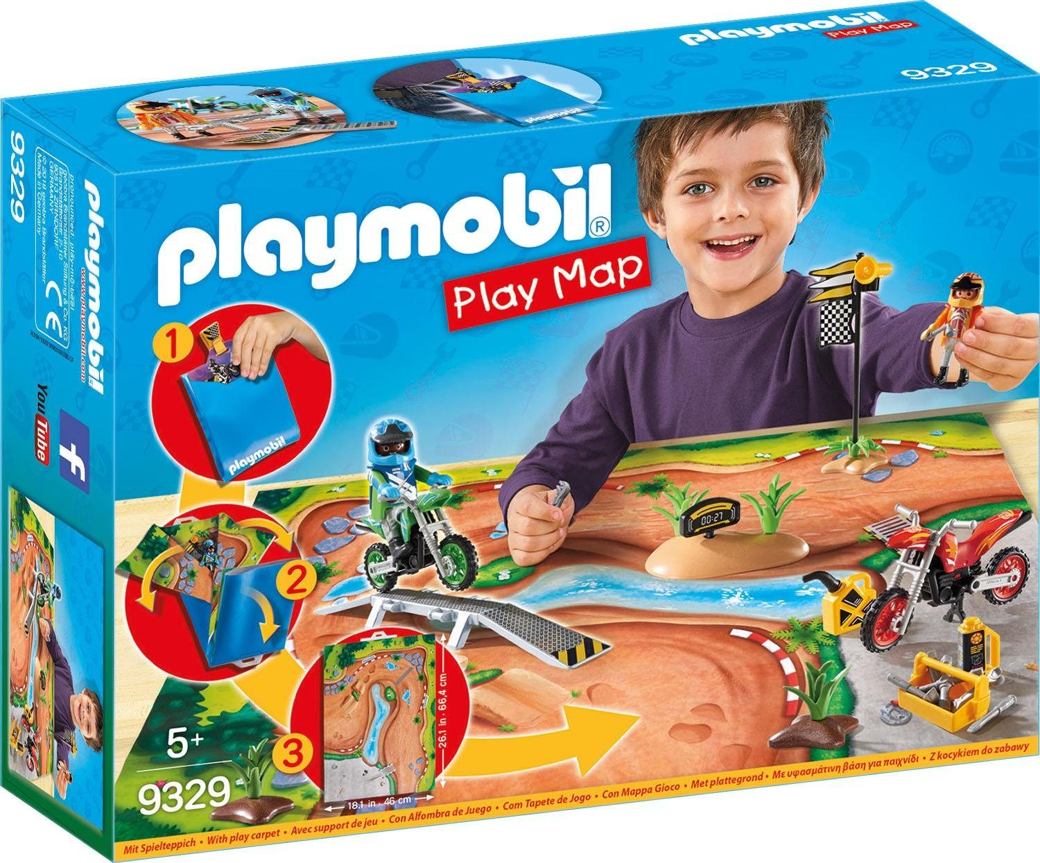 Playmobil® Play Map Motocross (9329), »Action«