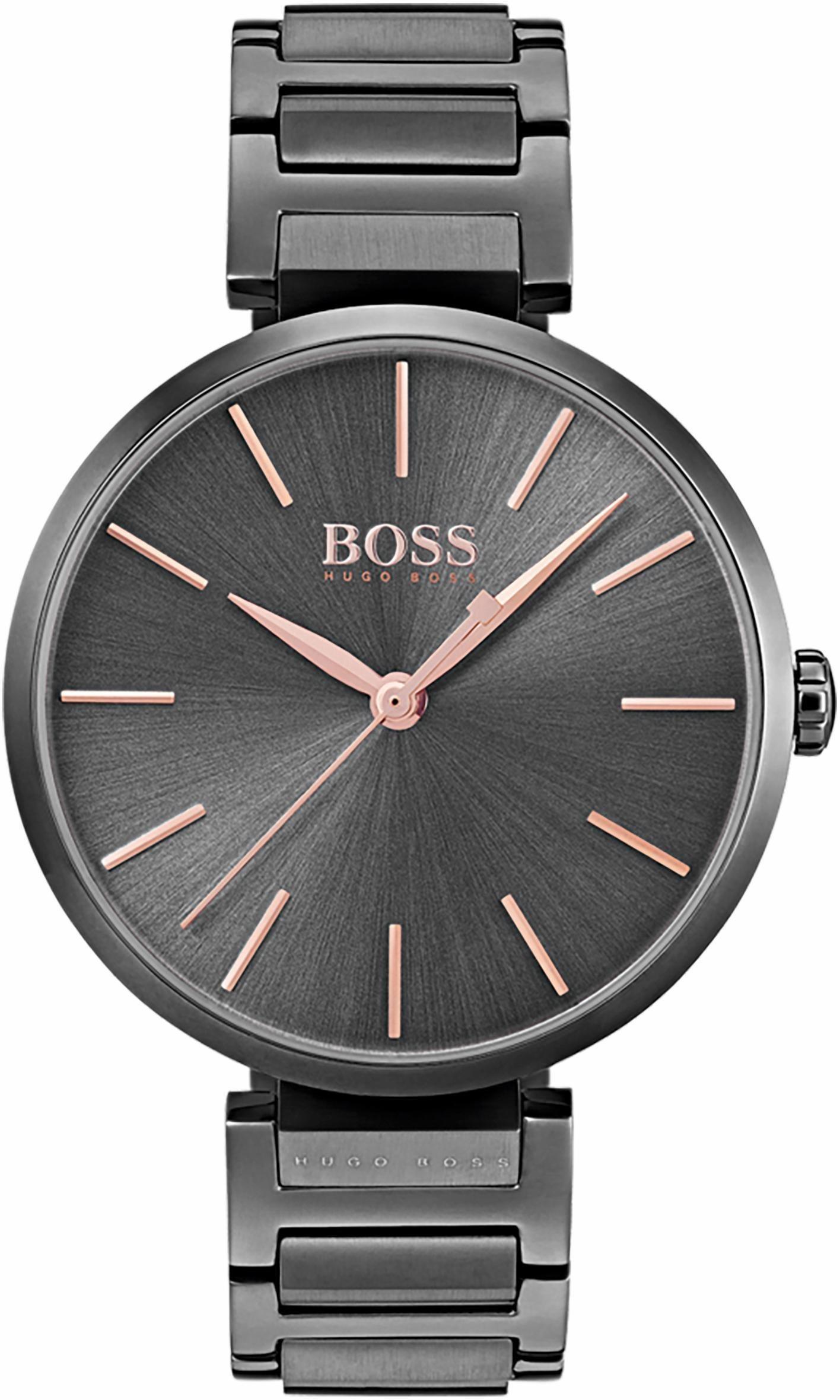 Damen Boss Quarzuhr ALLUSION, 1502416 grau | 07613272243902