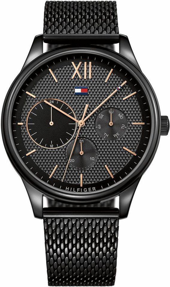 TOMMY HILFIGER Multifunktionsuhr »Sophisticated Sport, 1791420« | Uhren > Multifunktionsuhren | Schwarz | TOMMY HILFIGER