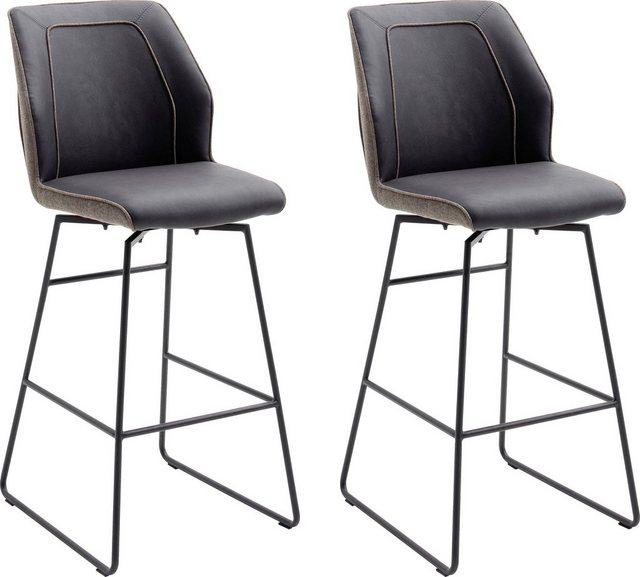 Barmöbel - MCA furniture Barhocker »Aberdeen« (Set, 2 St., 2 er), Barstuhl im Materialmix, Barstuhl bis 120 Kg belastbar  - Onlineshop OTTO