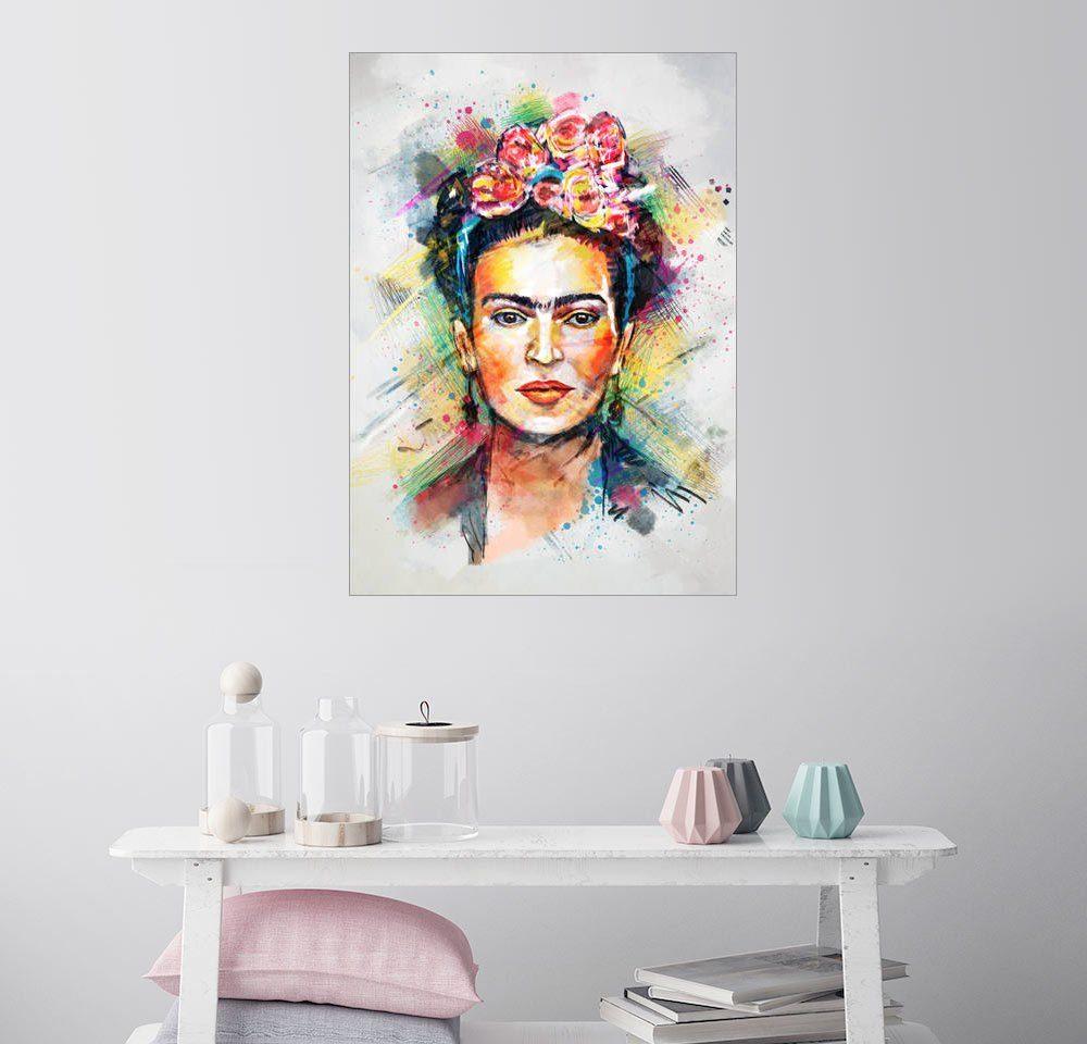 Posterlounge Wandbild - Tracie Andrews »Frida Kahlo«