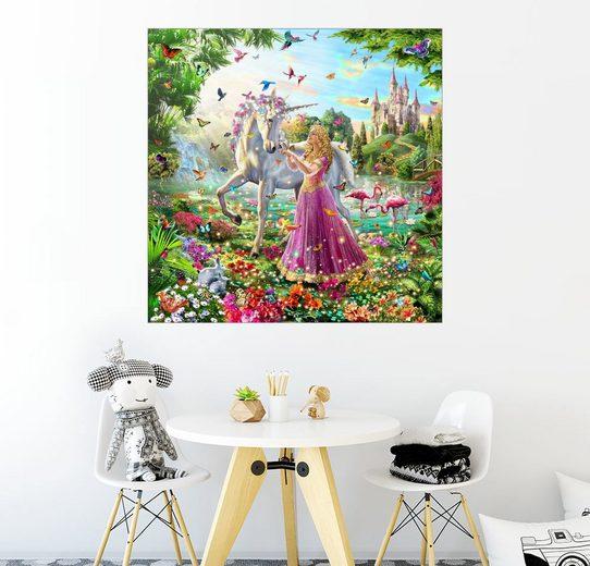 Posterlounge Wandbild - Adrian Chesterman »Die Prinzessin und das Einhorn«