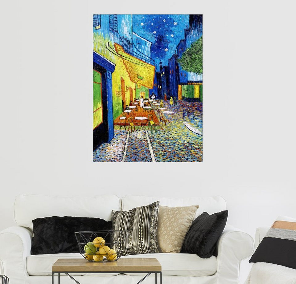 Posterlounge Wandbild Vincent Van Gogh Terrasse Des Cafes An Der