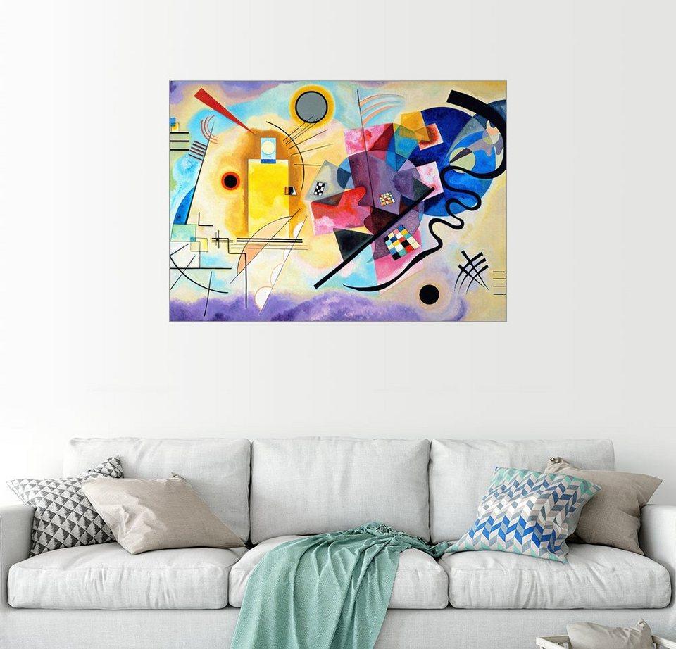 posterlounge wandbild wassily kandinsky gelb rot und blau online kaufen otto. Black Bedroom Furniture Sets. Home Design Ideas