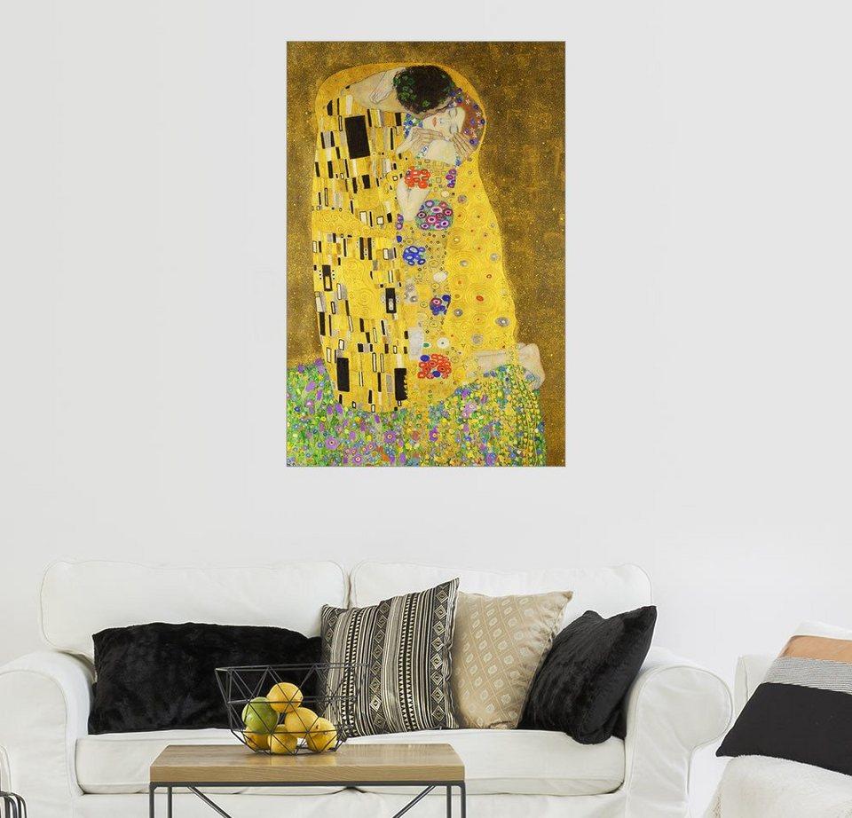 Posterlounge wandbild gustav klimt der kuss hochformat online kaufen otto - Wandbild hochformat ...