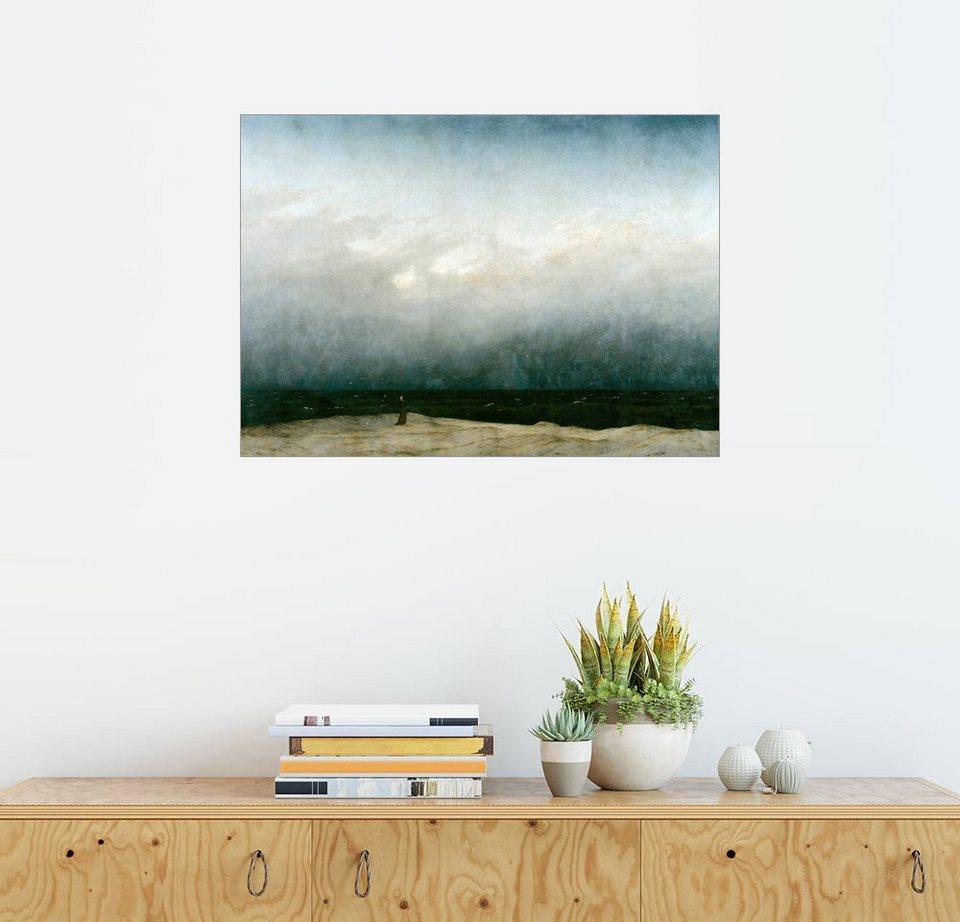 Posterlounge Wandbild - Caspar David Friedrich »Mönch am Meer ...