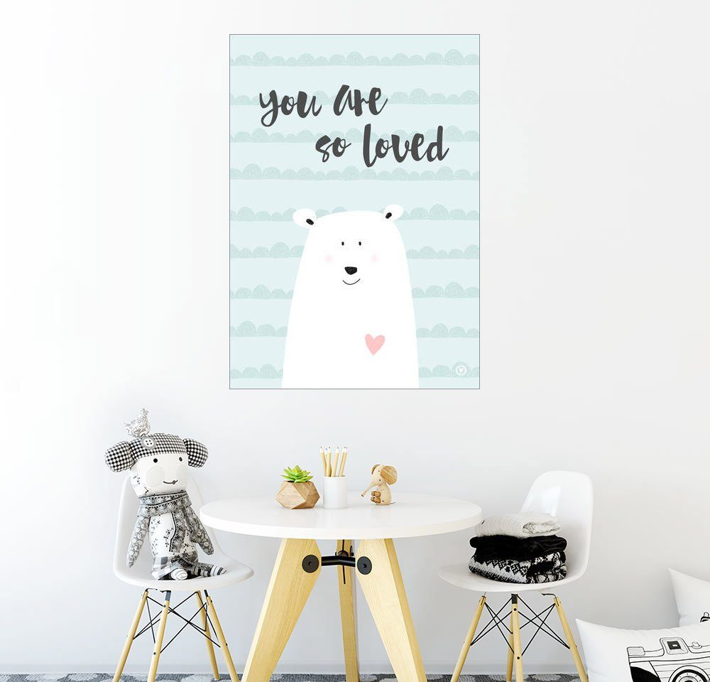 Posterlounge Wandbild - m.belle »You are so loved - Mint«