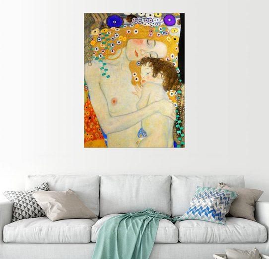 Posterlounge Wandbild - Gustav Klimt »Mutter mit Kind (Detail)«