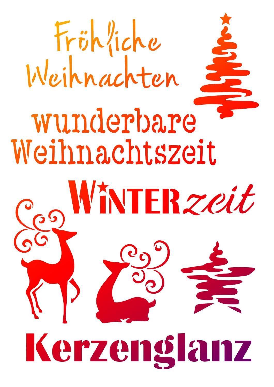 """Viva Decor Schablone """"Weihnachtsmotive + Schriften"""""""