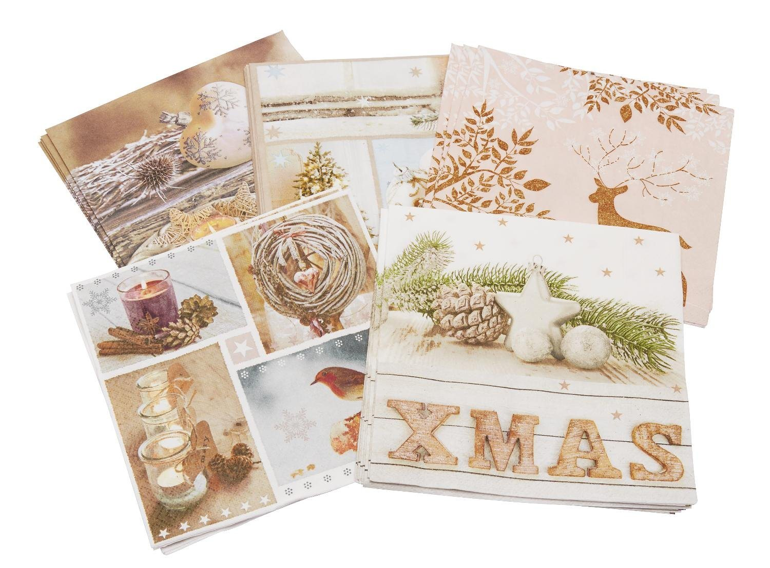 VBS Servietten-Set ´´Home for Christmas´´, 20-teilig, VBS-Set | Heimtextilien > Tischdecken und Co > Servietten | Papier | VBS