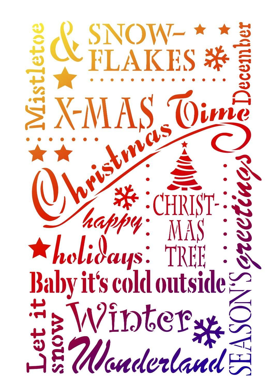 "Viva Decor Schablone ""Christmas Time"""