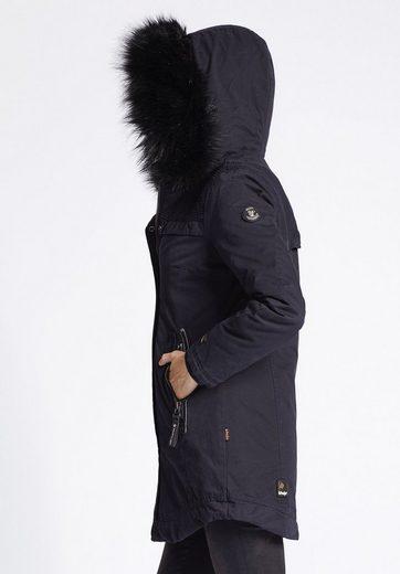 khujo Winterjacke EKATHERINA WITH INNER JACKET, mit herausnehmbarem Sweatstoffeinsatz