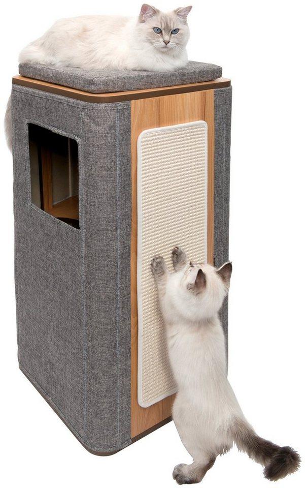 VESPER Katzenhöhle »VP Cubo Tower«, BxTxH: 42,5x42,5x87 cm, grau - Preisvergleich
