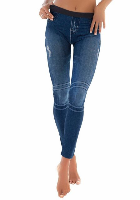 Hosen - Buffalo Leggings mit aufgedruckter Jeansoptik › blau  - Onlineshop OTTO