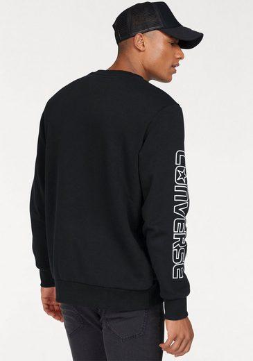 Converse Sweatshirt CONVERSE STAR CHEVRON GRAPHIC CREW, Innen weich angeraut