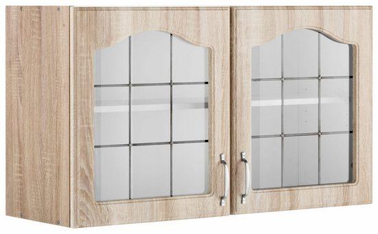 wiho Küchen Glashängeschrank »Linz« 100 cm breit, mit 2 Glastüren