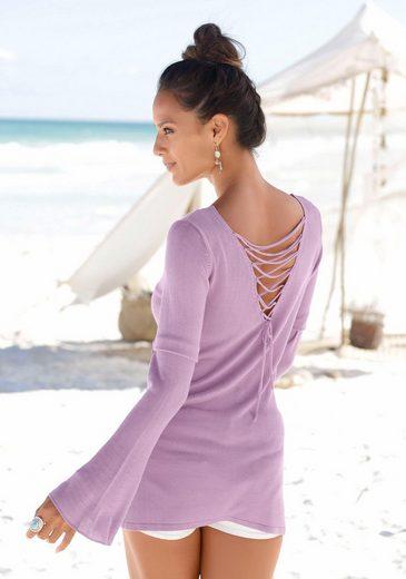 LASCANA Rundhalspullover mit tollem Rückendetail