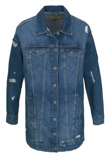 Only Jeansjacke CRISPY, mit Destroyed Effekten