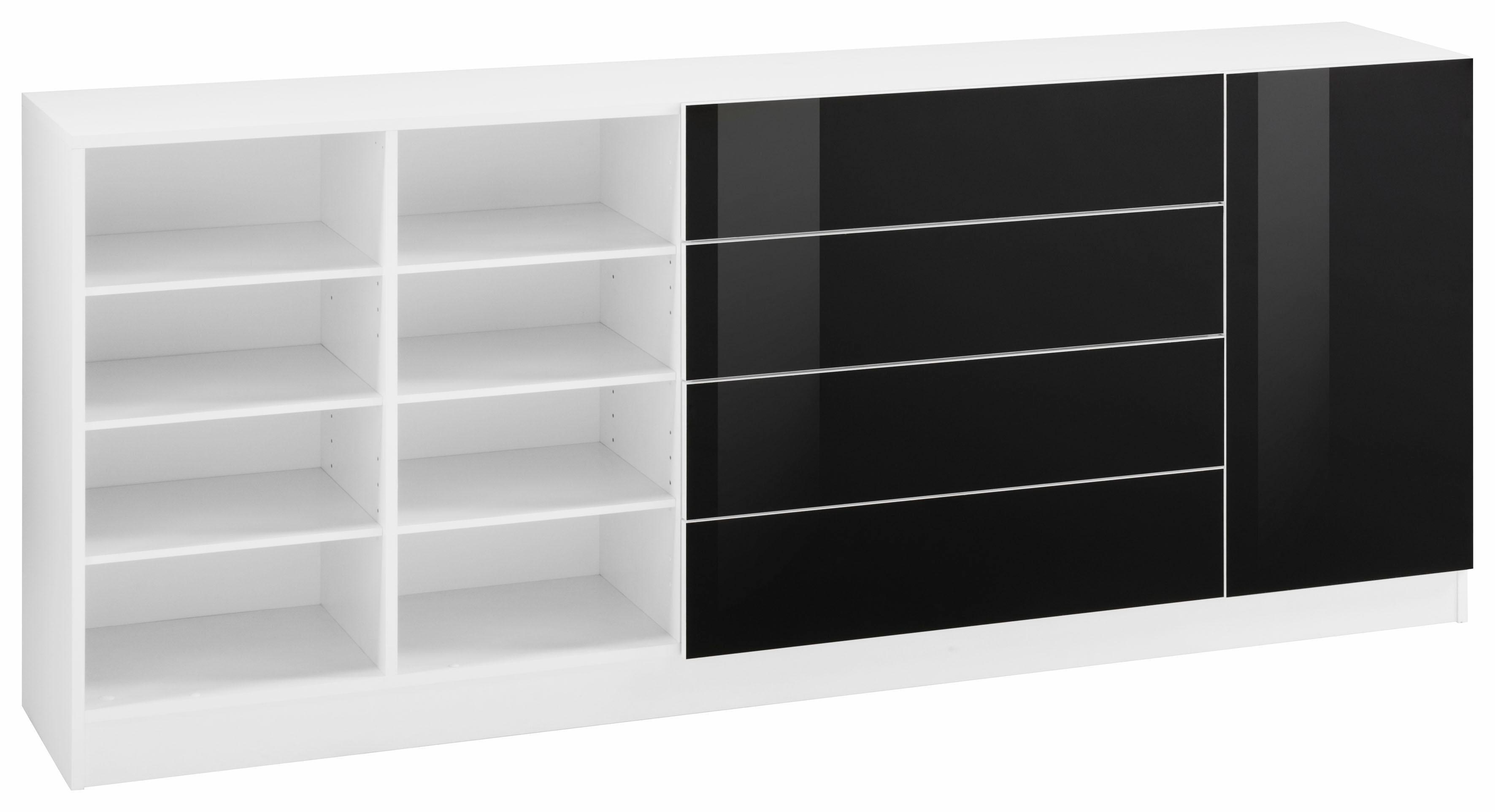 Borchardt Möbel Kommode »Tore«, Breite 190 cm | Wohnzimmer > Schränke > Kommoden | Weiß - Matt - Schwarz - Glanz | Melamin | borchardt Möbel