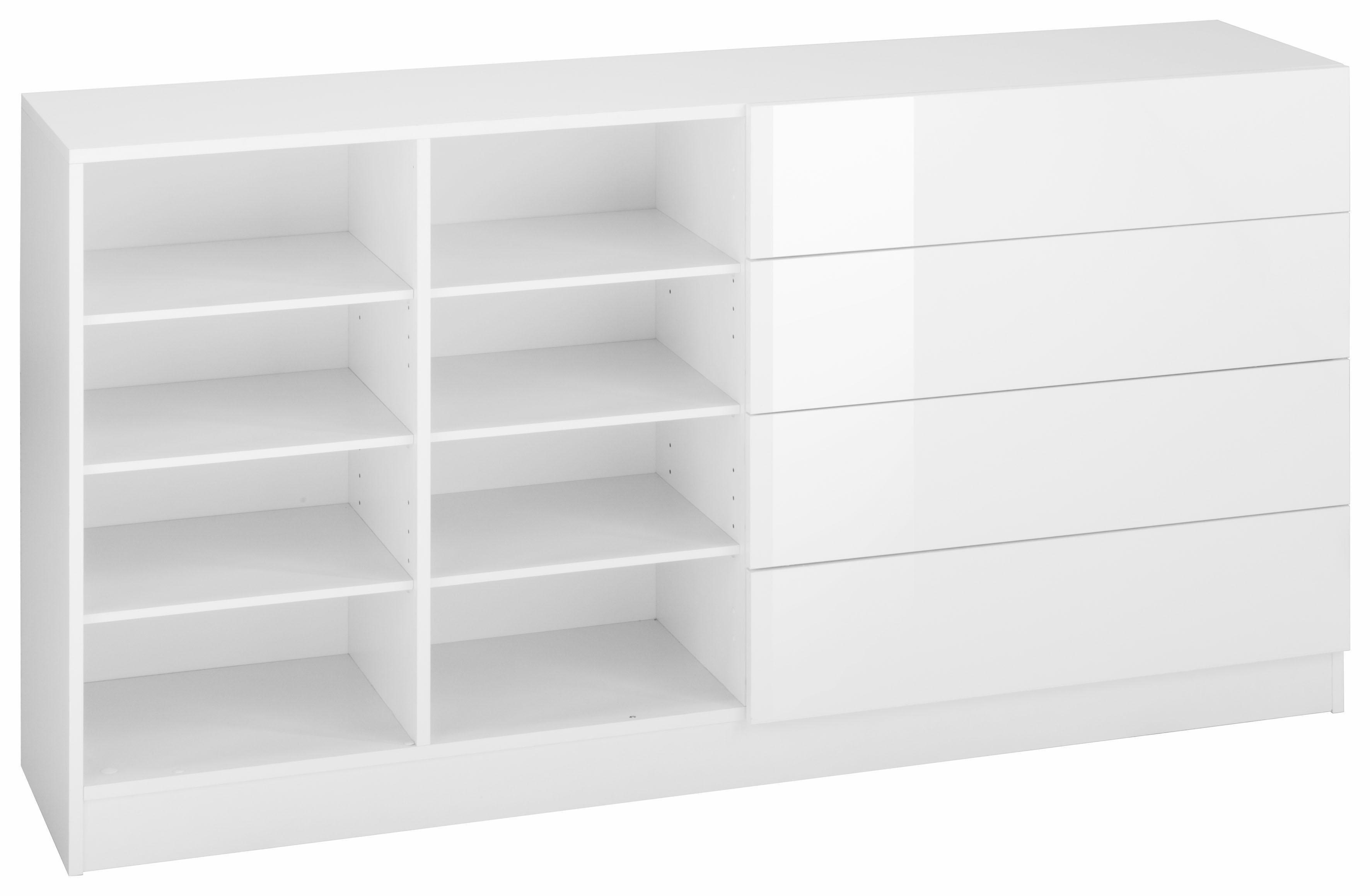 Borchardt Möbel Kommode »Tore«, Breite 152 cm   Wohnzimmer > Schränke > Kommoden   Weiß - Matt - Schwarz - Glanz   Melamin   borchardt Möbel