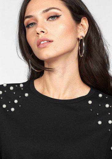 Vero Moda Rundhalsshirt BACALL, mit Deko-Perlen