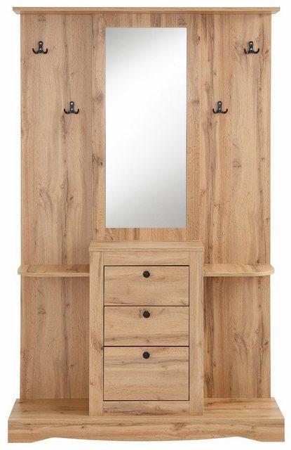 Garderoben Sets - Home affaire Kompaktgarderobe »Norma« mit Spiegel und vielen Ablageflächen  - Onlineshop OTTO