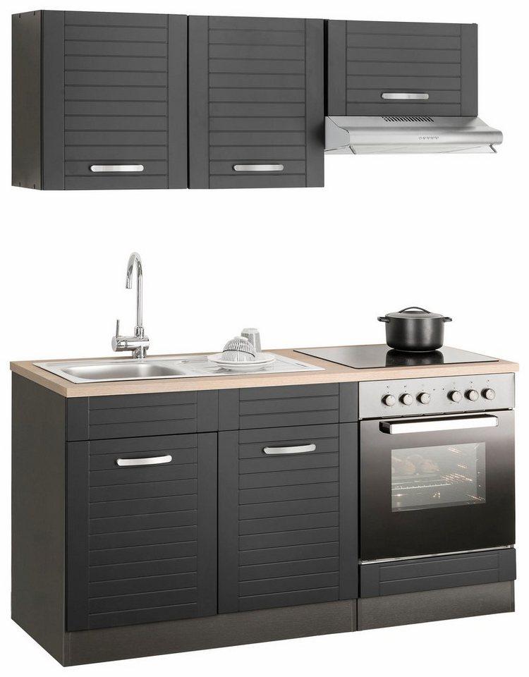 HELD MÖBEL Küchenzeile »Falun« mit E-Geräten, Breite 160 cm online ...