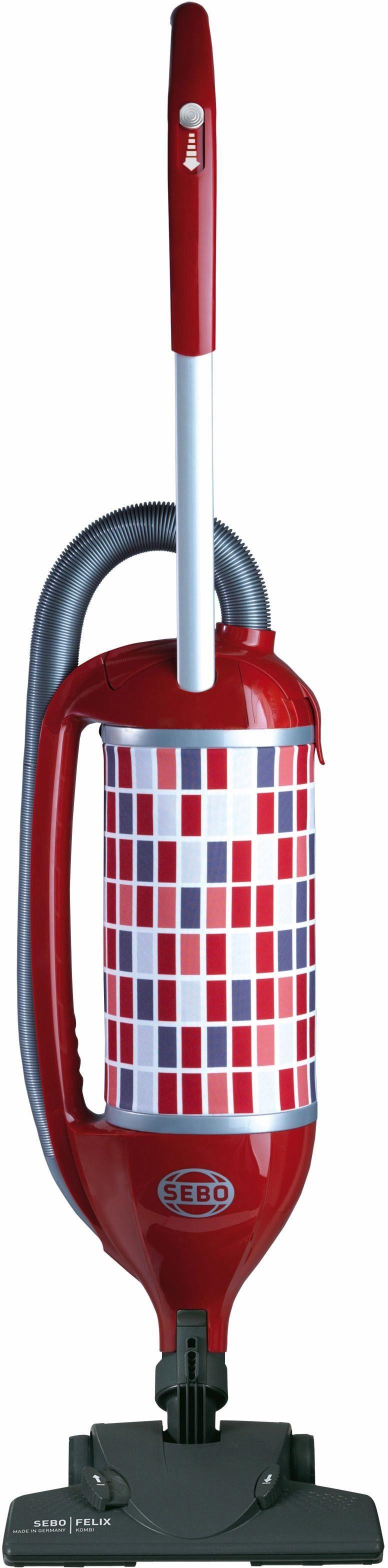 SEBO Handstaubsauger SEBO FELIX 4 KOMBI ROSSO, 700 Watt, mit Beutel, Flexibles Dreh-Kipp-Gelenk für mehr Beweglichkeit
