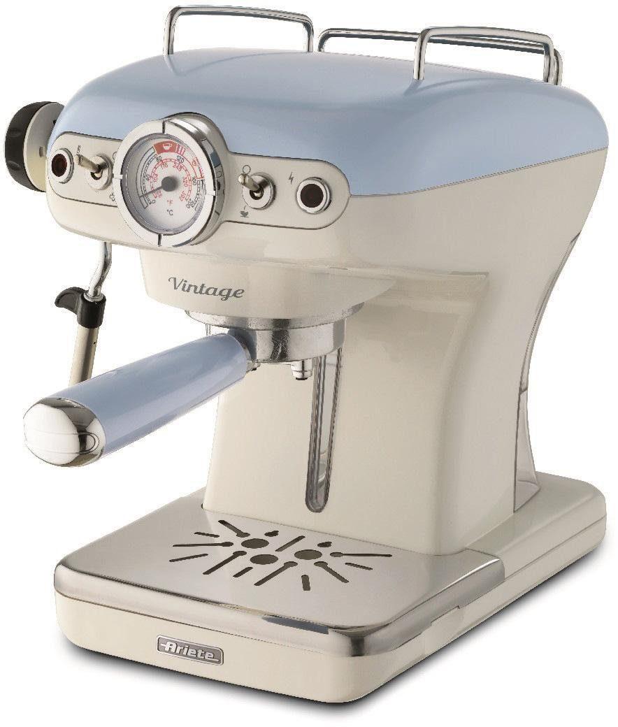 Ariete Espressomaschine 1389 Vintage blau-weiß