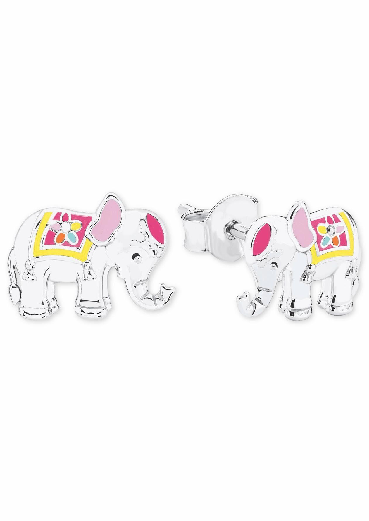 Prinzessin Lillifee Paar Ohrstecker »Elefant, Blume, 2019680« mit Emaille