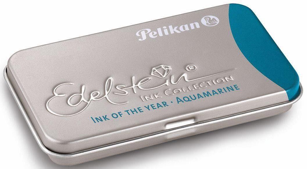 Pelikan Tintenpatronen, »Edelstein® Ink im Metalletui, Aquamarine«