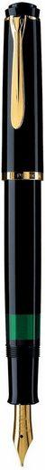 Pelikan Füllhalter »Classic M 200, schwarz«, mit vergoldeter Edelstahlfeder, Federbreite M