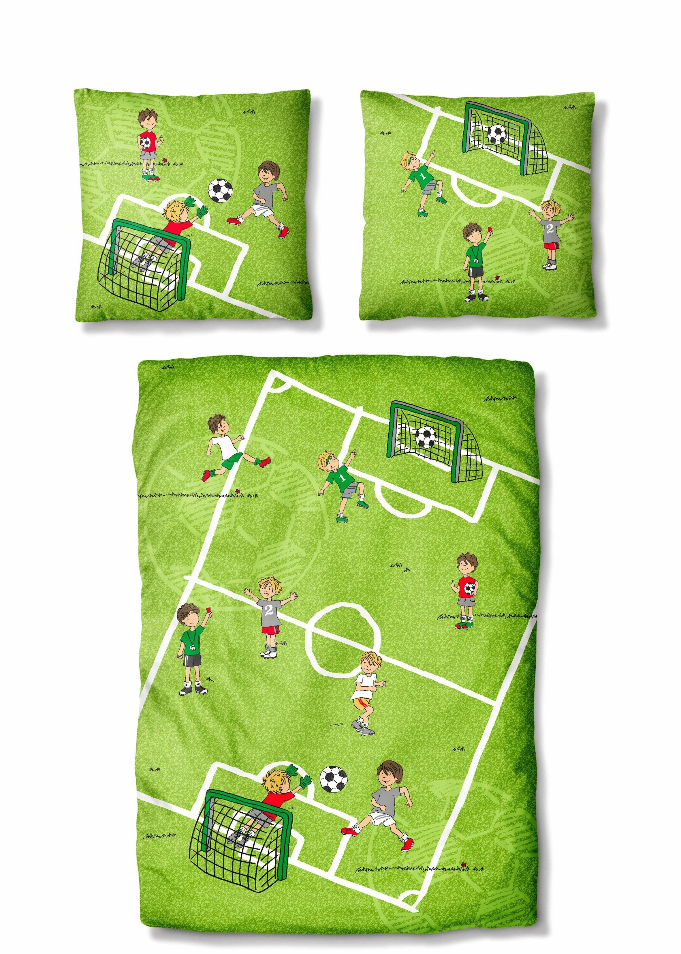 Kinderbettwäsche »Kids Soccer«, Auro Hometextile, mit Fußballmotiv