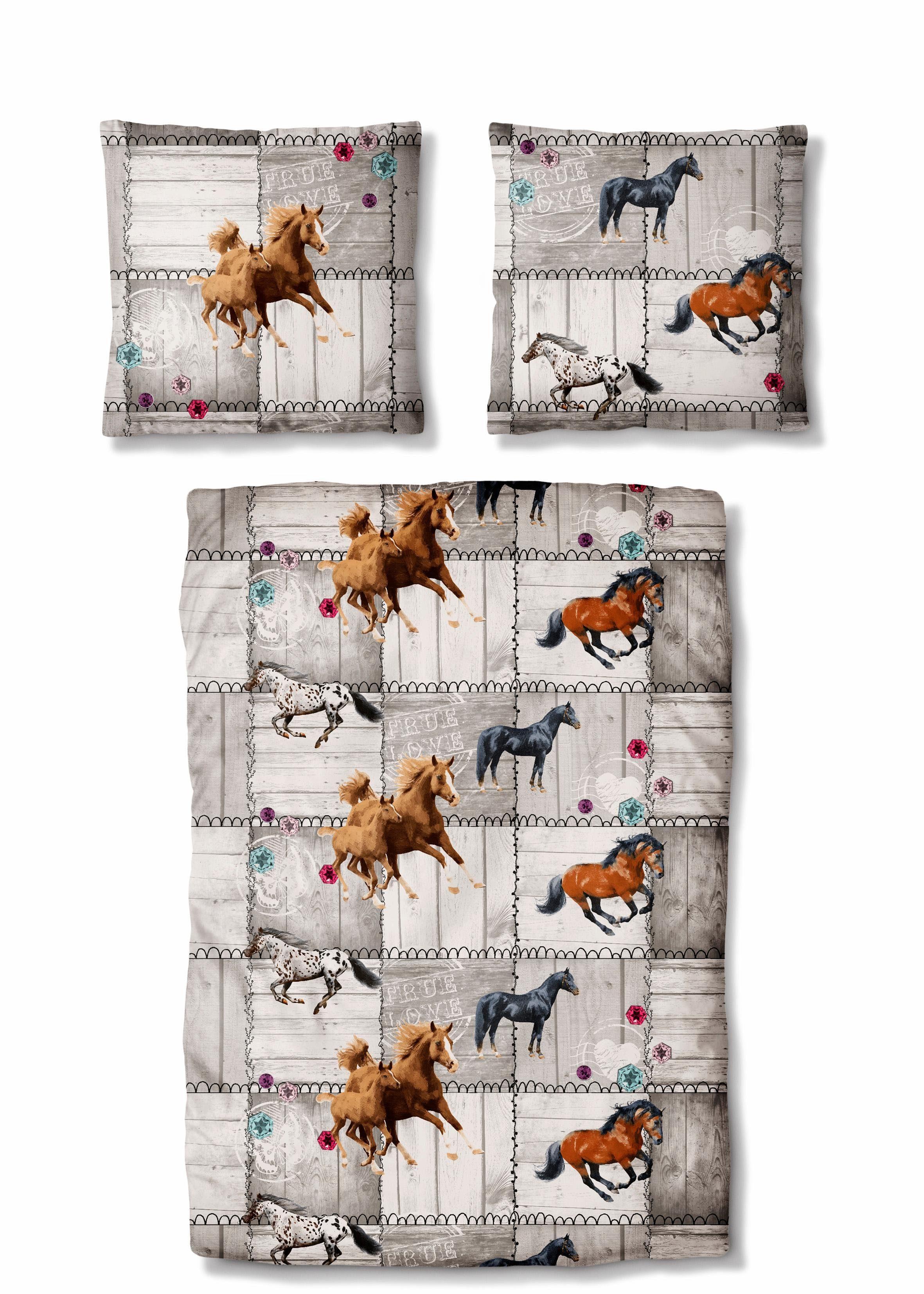 Kinderbettwäsche »Wild Horses«, Auro Hometextile, mit Pferden
