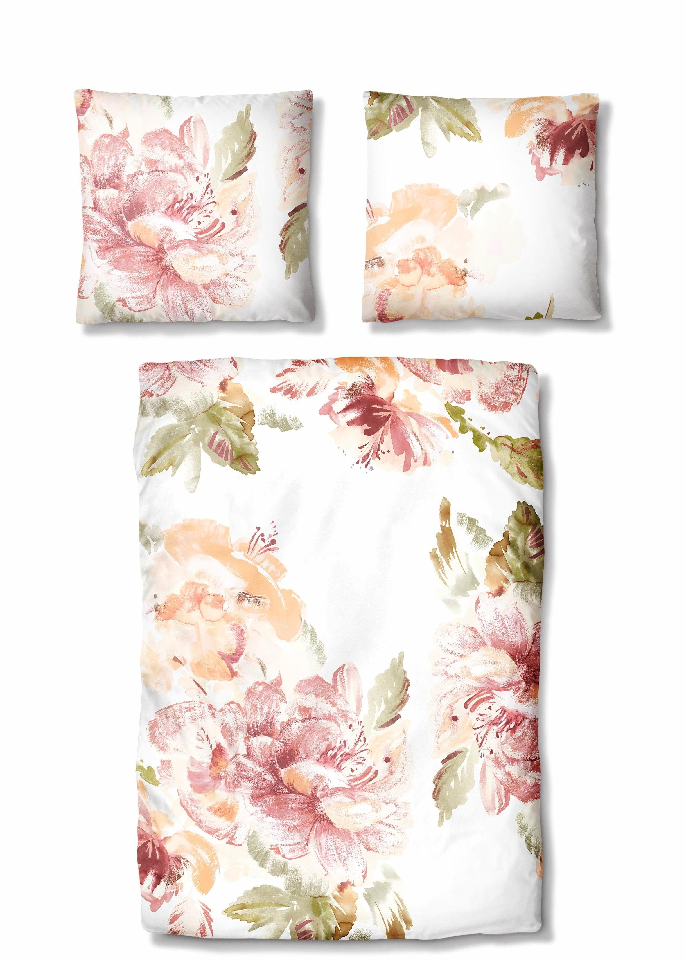 Bettwäsche »Betty«, Auro Hometextile, mit großen Blüten